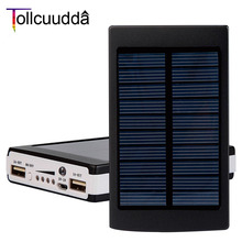 Solar Power Bank 10000mah External Solar Charger poverbank for ipad For iphone 6 s 2017 high quality mobile phone banco de energ