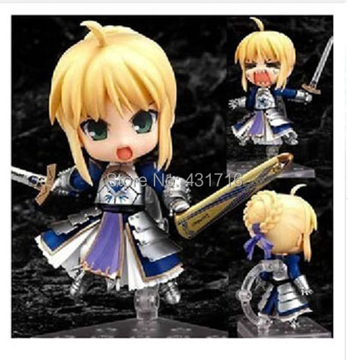 Fate Stay Night Figure Japanese Animation Fate Stay Night 121# Cute Nendoroid Blue Saber Armour Fate Action Figure Collection<br><br>Aliexpress