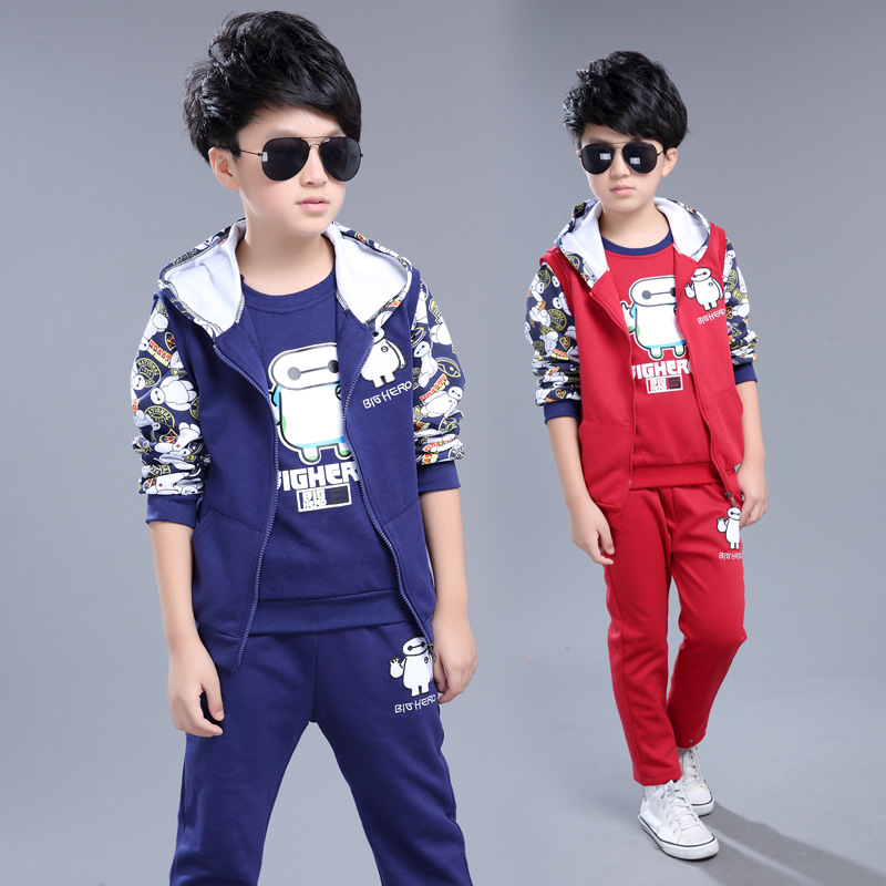 2017 New Leisure Children Three-piece Suit Boy Fall Clothing Children Out Of Childrens Wear<br><br>Aliexpress