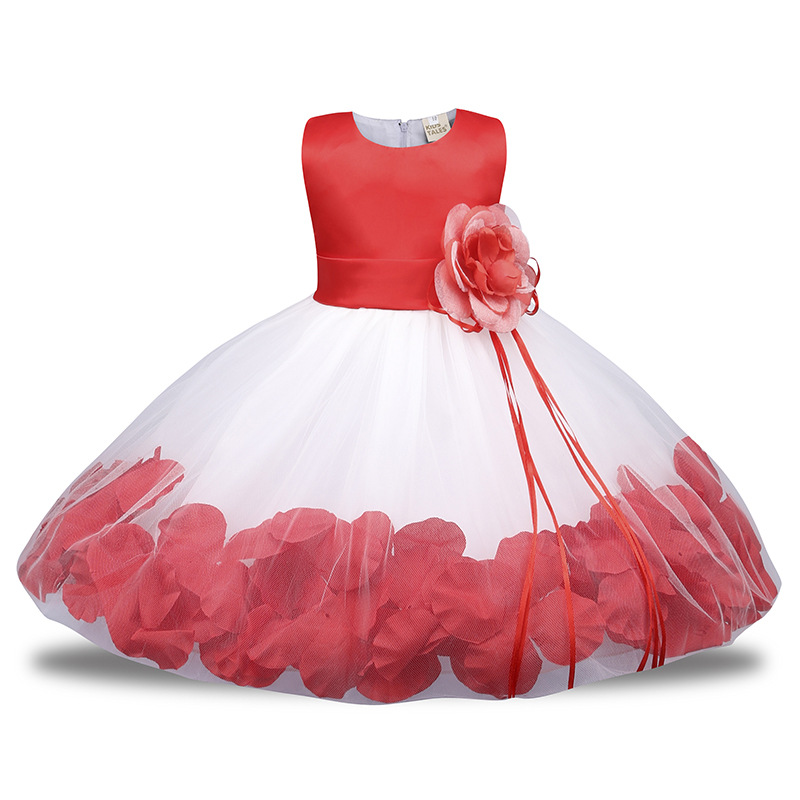 Kids Girls Flower Dress Baby Girl Birthday Party Dresses Children Fancy Princess Ball Gown Wedding Clothes<br>