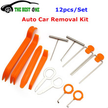 Auto Car Accessories 12pcs/Set Automotive Car Radio Panel Door Clip Trim Dash Audio Fast Removal Installer Pry Repair Tool Kit(China)