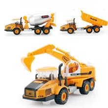 Hot Sale Alloy Truck Excavator Toys Vehicle Model Diecast Cars Metal Model Car Brinquedos Dinky Toys Children Educational Toys(China)
