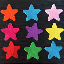 Mix 50PCS 25mm Padded Pretty Flashing Star Appliques / Scrapbooking Craft Making A70A