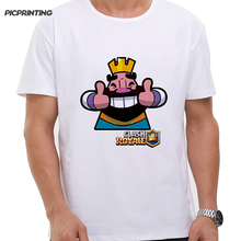 Brand Fashion Clash Royale CR Printed Men T-shirt Card Game Comic Cartoon T shirt Custom Pattern Tee shirt 5XL Male Funny Tops(China)