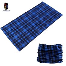 TTONCEN 2017 Summer Plaid Seamless Headwear Neck Bandana Print Scarf Tube Cap Scarves