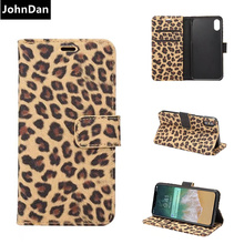 Buy JohnDan Apple iPhone X Fashion Leopard Panther Leather Fur Wallet Card Slot Flip Book Case iPhoneX Stand Fold Cover Bag for $7.99 in AliExpress store