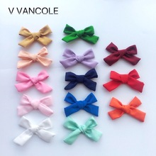 5pcs/lot Diy Boutique With Fabric Hair Bow For Hair Accessories without hair clips(China)