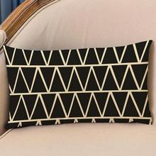 Modern Simplicity European Style  Stripe Geometry Patterns Decorative Pillow Cushion Headrest Free Shipping