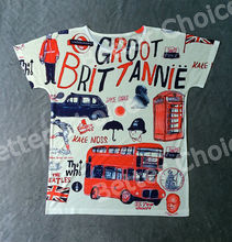 Track Ship+Vintage Retro Cool Rock&Roll Punk T-shirt Top Tee Car / Telephone Booth / British Double Decker Bus 0212