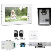 7inch Wired Video Door Phone Intercom System Electric Strike Lock Set Included