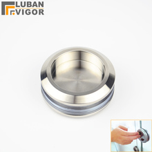 304 stainless steel round handle, Bathroom glass , Invisible sliding door handle,Hardware ,for 8-12glass(China)