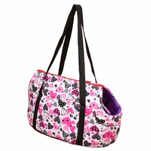 pink heart Printed dog carriers for small dogs carrier bag Fashion pet carrier bag for dogs pets carry out pet products
