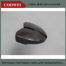 Top quality carbon fiber mirror caps car side mirror housings for Ford wing tiger 1 pair replacement style(China)