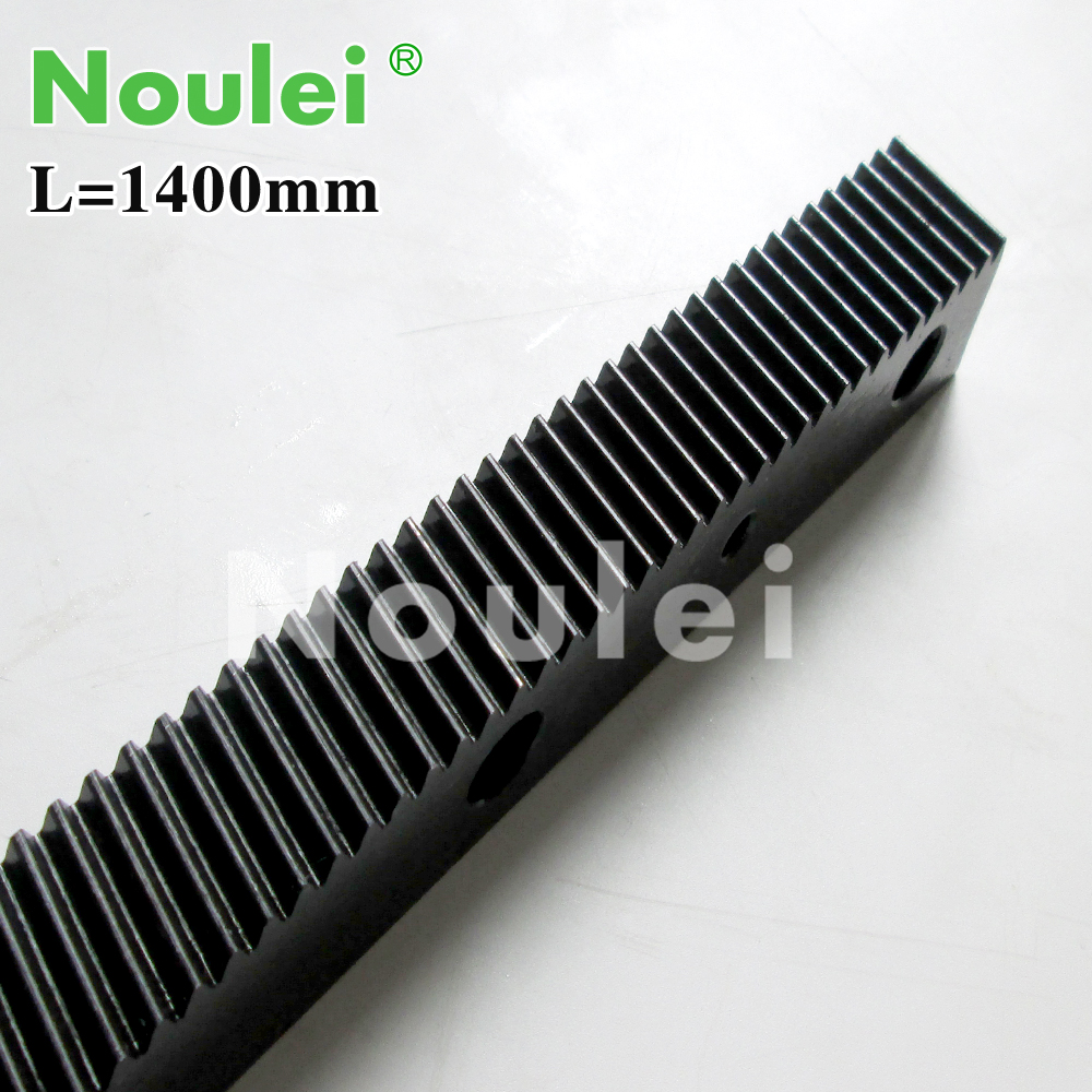 1.25 modulus helical teeth Gear Rack steel 1400mm  high precision for cnc router parts<br>