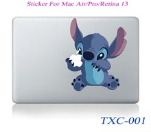 NEW Stitch Cartoon Laptop Skin Sticker Decal For Macbook Air Pro Retina 13 Macbook 13.3 inch(China)