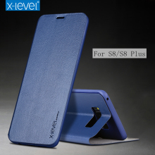 X-Level Flip Phone Case for Samsung Galaxy S8 S8 Plus Case Business Style PU Leather Luxury Stand Case Cover for Samsung S8 Case(China)