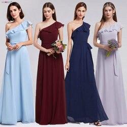 Bridesmaid Dresses Ever Pretty 07211 Sexy One Shoulder A-line Ruffles  Floor-Length Belt Gowns Beach Wedding Guest Dress 5fae3699e8d0