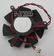 SZYTF  video card fanNew Graphics card fan 46mm diameter 39mm pitch 2.0 Terminal Cable length 11cm