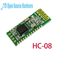 1pcs HC-08 HC08 Serial Port Module Wireless Bluetooth 4.0 RF Transceiver Support 9600bps Low Power Microcontroller 3.3V(China)