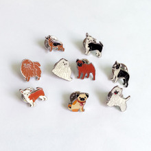 Dog lovers mini pug dogs brooches pins pendant badge decorated cartoon cute brooches for men Jewelry women Fashion gifts Badges(China)