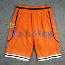Anime KUROKO'S BASKETBALL Kuroko no Basuke Cosplay Costume Shutoku School Guest Orange Shorts Sportswear Size M L XL XXL(China)