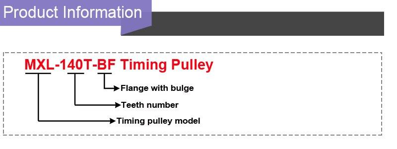MXL 140T Timing Belt Pulley Gear Wheel Sprocket 8-12mm Bore For 10mm Width Belt