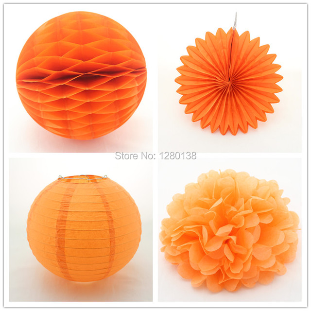 30 Sets Party Decoration 8 Honeycomb Tissue Paper Pom Poms Chinese
