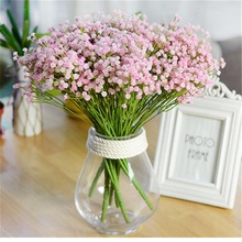 7 bifurcation/140 heads Babysbreath Silk Artificial Flower Decoration Decorations Starry Simulation Fake Rose Flowers Bouquet