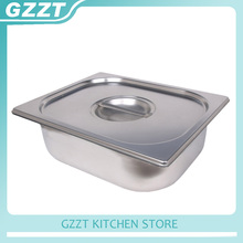 Commercial American Style 1/1 Gastronorm Pans Stainless Steel Buffet Plate Pot Tureens 6pcs/carton(China)