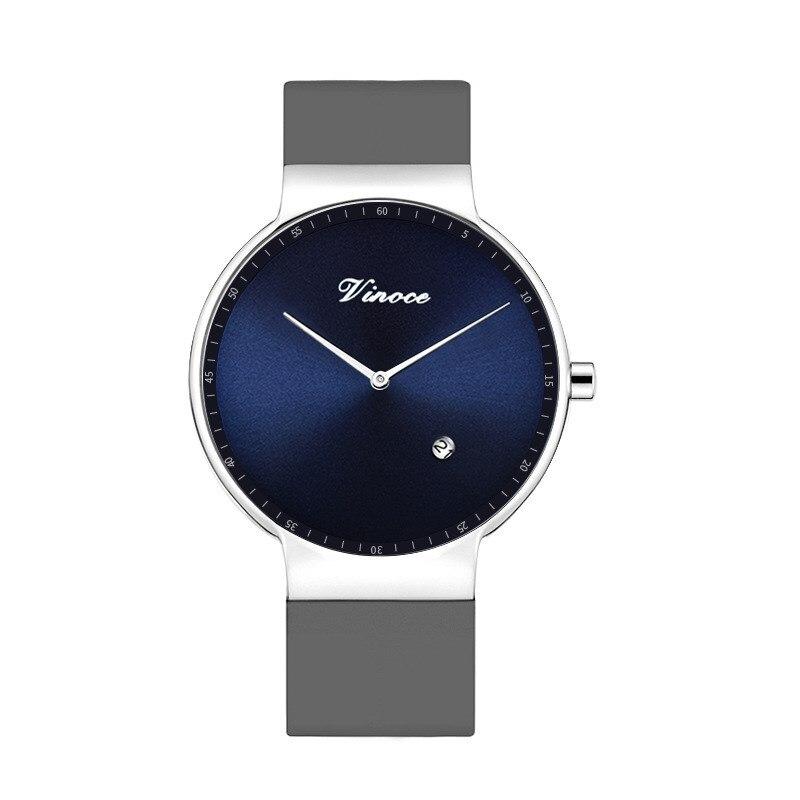 Men Watches Luxury Brand VINOCE Quartz Silicone belt Minimalist Ultrathin WristWatches Waterproof High Quality Relogio Masculino<br>