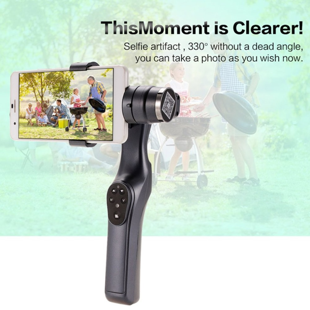 JJ-1S 2-axis Smartphone Brushless Handheld Gimbal Tray Stabilizer for GOPRO/YI/SARGO/MEEE GOU Sport Action Camera 4