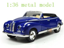 The new alloy car models classic children's toy pull back antique convertible classic car