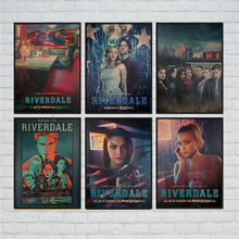 Riverdale Vintage movie kraft paper poster retro painting antique living room HD wall sticker print home decor 42x30cm(China)