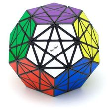 Brand new high quality MF8 and Eric Vergo Pentagram black Speed cube mf8 9cm Dodecahedron Magic Cube(China)