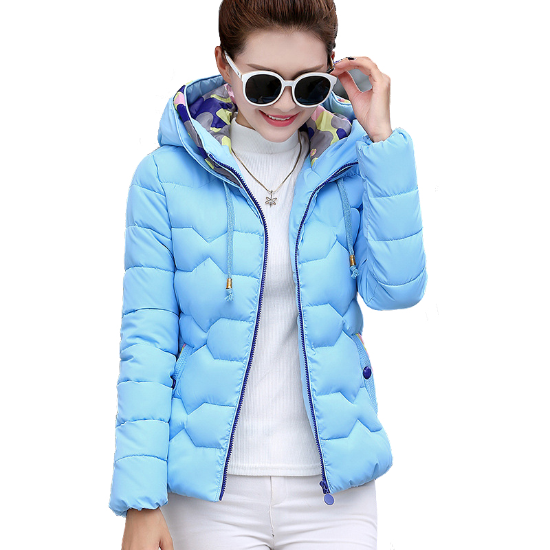 2017 New Arrival Winter Jacket Women Plus Size 3XL Slim Hooded Short Cotton Down Jacket High Quality Manteau Femme Free ShippingОдежда и ак�е��уары<br><br><br>Aliexpress