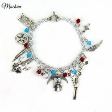 MQCHUN Supernatural There CHARM BRACELET TV Jewelry Dean Sam Davils Winchester Gifts For Fashionable Men And Women(China)