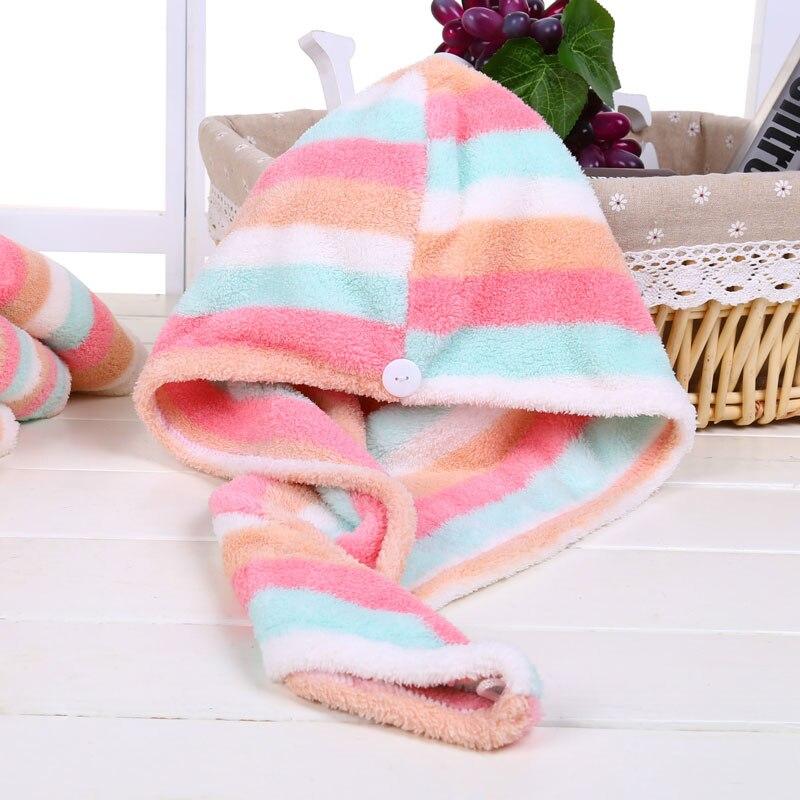 GIANTEX Women Bathroom Super Absorbent Quick-drying Microfiber Bath Towel Hair Dry Cap Salon Towel 25x65cm U0755 10