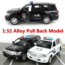 Free shipping ! super cool !1 : 32 Pull Back sound and lights alloy car toy Police car Models,Children's best birthday gift