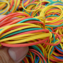 100 Pieces/Pack Colorful 40mm Rubber Bands High Quality Natural Rubber Band Home Food Kid Hair Package Office Rubber Brands(China)