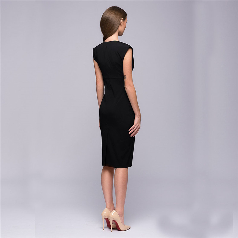 2017 New Fashion Womens Autumn Style Sexy V Collar Self Cultivation Dresses Summer Vintage Elegant Club Christmas Party Dress 12