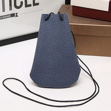 |Cute Women Leather Telephone Bags Simple Sling Casual Shoulder Messenger Crossbody Bag Small Black Bag Coin Purse Sacs Wallets