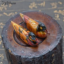 Kiwarm Resin Pair Of Mandarin Ducks Chopstick Holder For Home Decoration Feng Shui Craft Display Ornament Holiday Gift