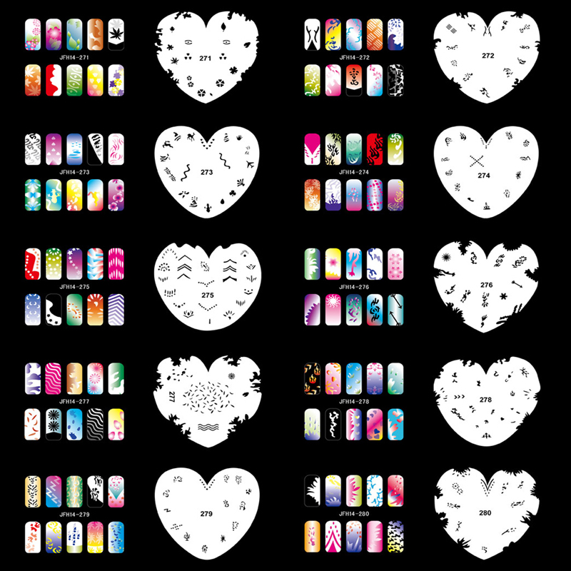 OPHIR 200 Designs Airbrush Nail Art Stencils 20PCS Airbrushing Template Sheet Stencil for Airbrush Nail Art Paint _JFH14<br><br>Aliexpress