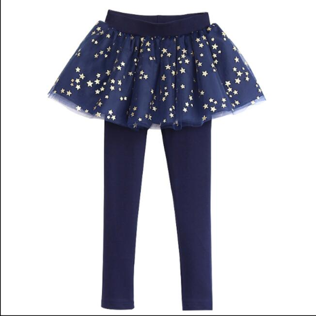 Spring Autumn 18 New Girls Leggings Girls Skirt-Pants Kid Pants Fashion Cake Skirt Girl kids Leggings Trousers Leggings Pants 7