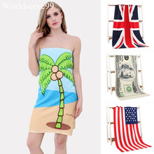 70*140cm Microfiber Summer Swimming Beach Towel Art Print UK Flag Bath Towels Absorbent Drying Shower Washcloth