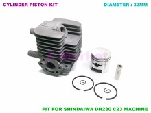 Cylinder Piston Kit for Shindaiwa DH230 Hedge Trimmer C23 Brush Cutter . Gasoline Engine Garden Tools Spare Parts