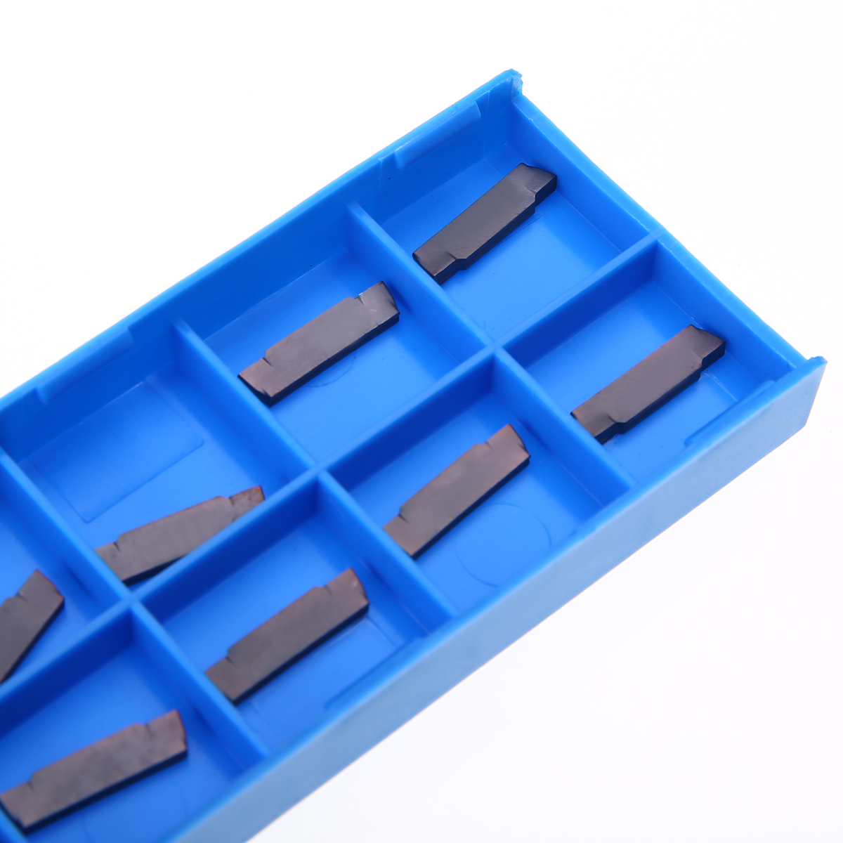 10pcs MGMN200-G LDA Carbide Inserts CNC Lathe Grooving Cutting Tool Insert Set with Box