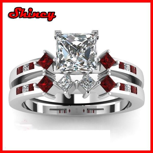 garnet wedding ring set rings ideas and inspirations - Garnet Wedding Rings