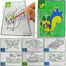 300PCS/LOT.Magic water art,Coloring art paper,Touch water to draw,Kids party favor,Birthday gift,Drawing toys,12x17.5cm.on stock(China)