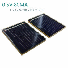 20Pcs Solar Panel China Painel Solar Polycrystalline Silicon Solar Cell DIY Technology Mini Production Material 0.5V 80MA